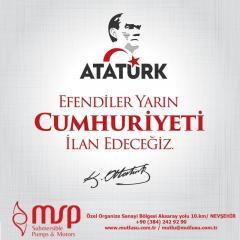 96.th Anniversary of Republic Day of Turkey