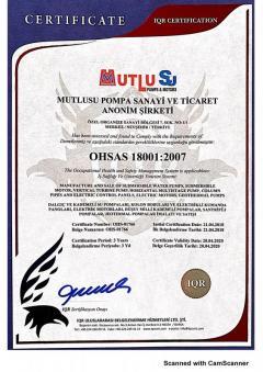 Mutlusu OHSAS 18001 2007
